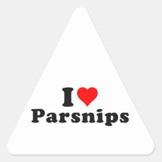 I love parsnips! triangle sticker