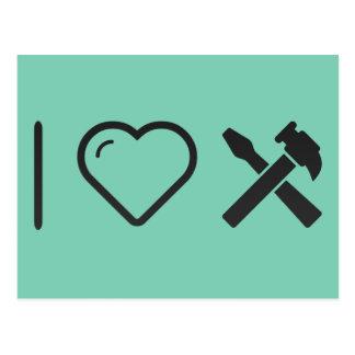 I Love Partner Hammers Postcard