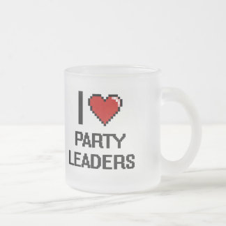 I love Party Leaders Frosted Glass Mug