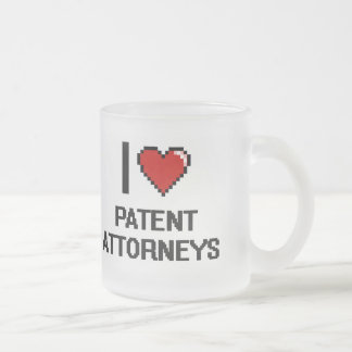I love Patent Attorneys 10 Oz Frosted Glass Coffee Mug