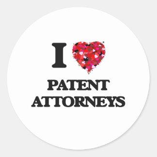 I love Patent Attorneys Round Sticker