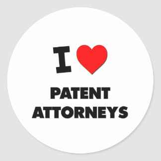 I Love Patent Attorneys Stickers