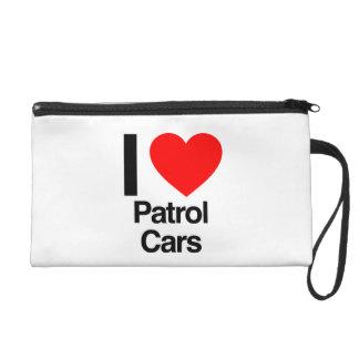 i love patrol cars wristlet purse