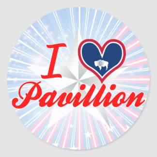 I Love Pavillion, Wyoming Round Stickers
