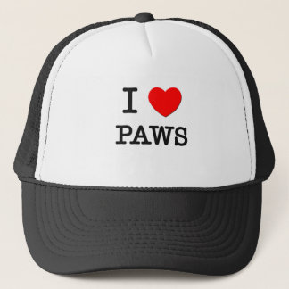 I Love Paws Trucker Hat