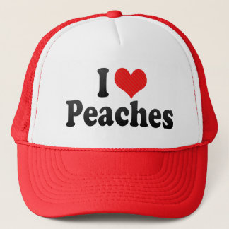 I Love Peaches Trucker Hat