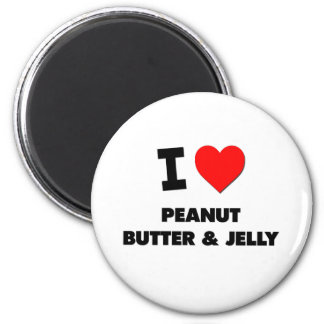 I Love Peanut Butter & Jelly ( Food ) Fridge Magnet