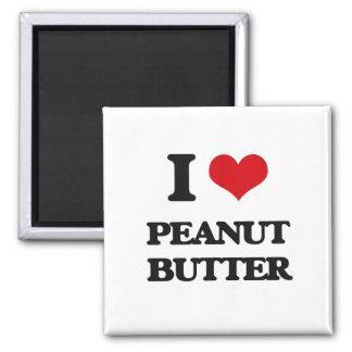 I Love Peanut Butter Fridge Magnet