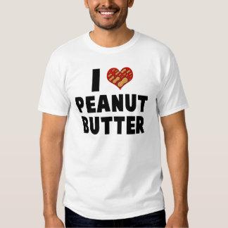 I LOVE PEANUT BUTTER T SHIRT