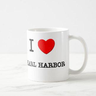 I Love Pearl Harbor Hawaii Coffee Mugs