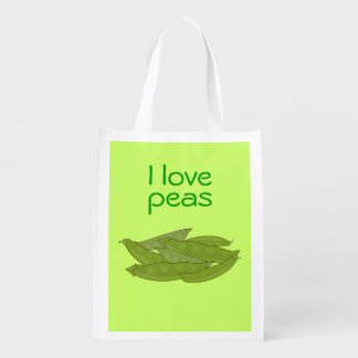 I Love Peas Bag for Gardener Vegetarian Vegan