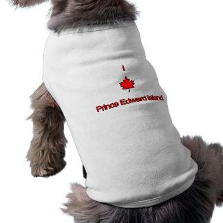 I Love PEI Prince Edward Island Sleeveless Dog Shirt