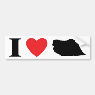 I Love Pekingese Bumper Sticker
