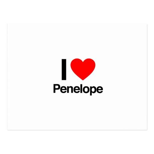 i love penelope postcard