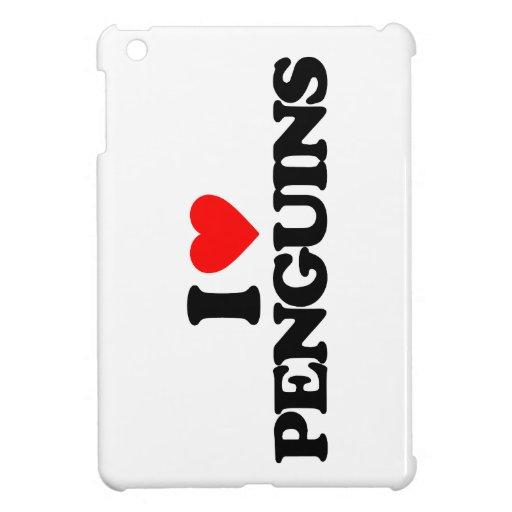 I LOVE PENGUINS iPad MINI CASES