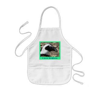 I love penguins kids apron
