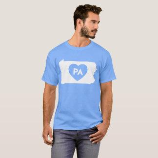 I Love Pennsylvania State Men's Basic Dark T-Shirt