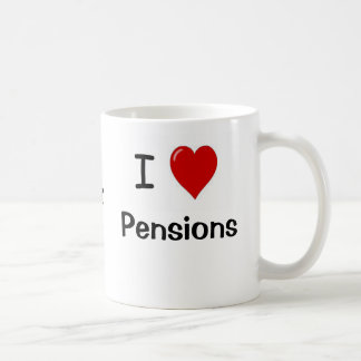 I Love Pensions and Pensions Heart Me! Coffee Mug