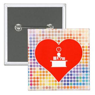 I Love People 15 Cm Square Badge