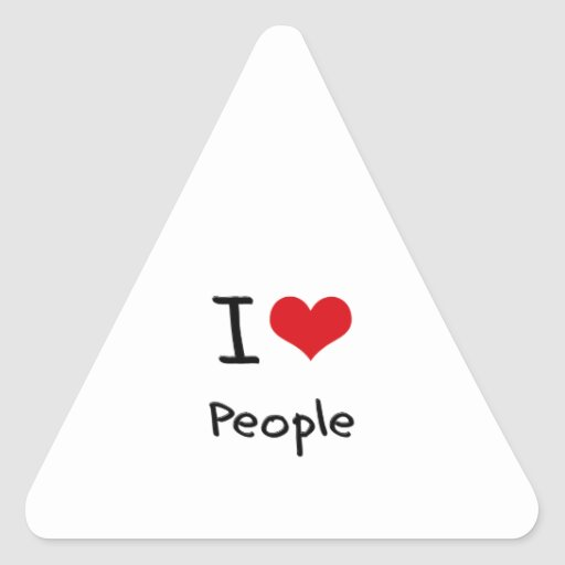 I love People Triangle Stickers