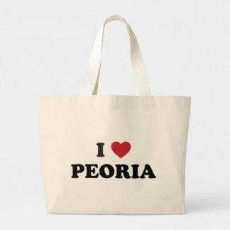 I Love Peoria Illinois Canvas Bags