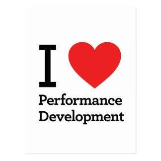 I Love Performance Development Postcards