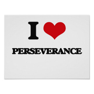 I Love Perseverance Poster