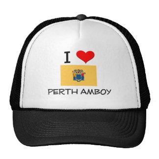 I Love Perth Amboy New Jersey Trucker Hat