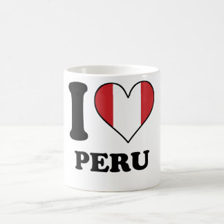 I Love Peru Peruvian Flag Heart Coffee Mug