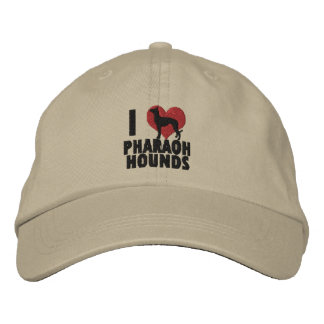 I Love Pharaoh Hounds Embroidered Hat