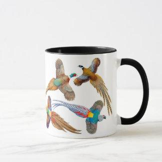 I Love Pheasants Ringer Mug