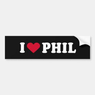 I LOVE PHIL BUMPER STICKER