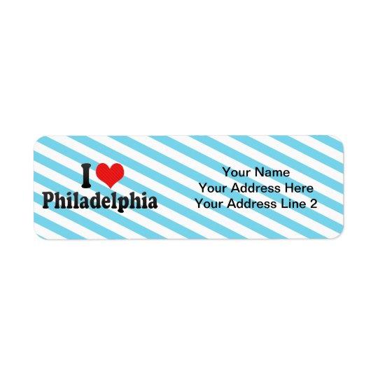I Love Philadelphia Return Address Label