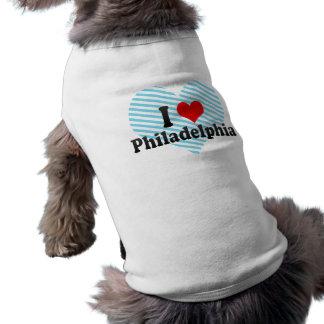 I Love Philadelphia, United States Sleeveless Dog Shirt