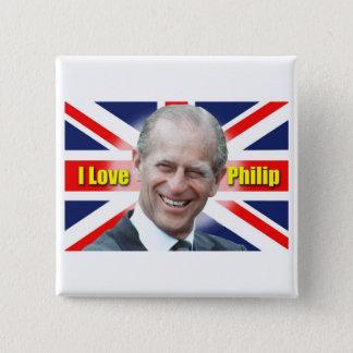 I Love Philip 15 Cm Square Badge