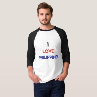 I love Philippines Men's Basic 3/4 Sleeve Raglan T T-Shirt