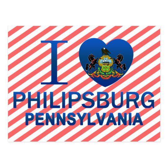 I Love Philipsburg, PA Postcard