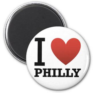 i-love-philly 6 cm round magnet