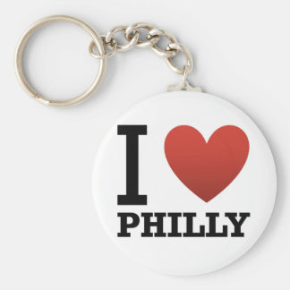 i-love-philly basic round button key ring