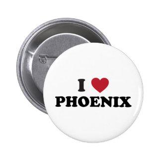 I Love Phoenix 6 Cm Round Badge