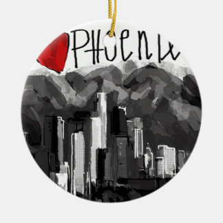 I love Phoenix Ceramic Ornament