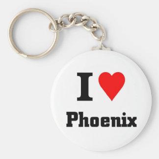 I love Phoenix Key Ring