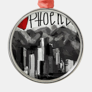 I love Phoenix Metal Ornament
