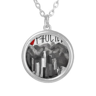 I love Phoenix Silver Plated Necklace