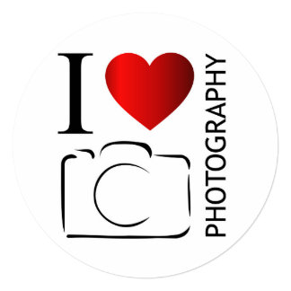 I love photography 13 cm x 13 cm square invitation card