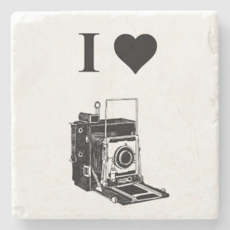 I love Photography Stone Coaster