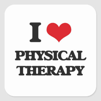I Love Physical Therapy Square Sticker