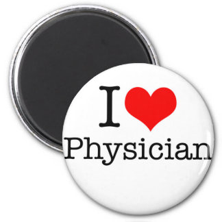 I Love Physician 6 Cm Round Magnet