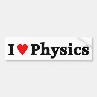 I love Physics Bumper Sticker