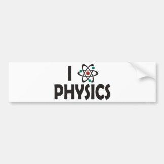 I Love Physics Bumper Stickers